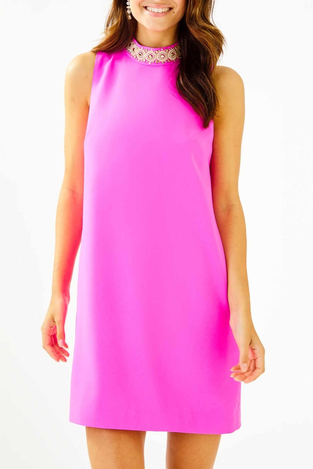Lilly Pulitzer Brandi Beaded Dress - Front Cropped Image