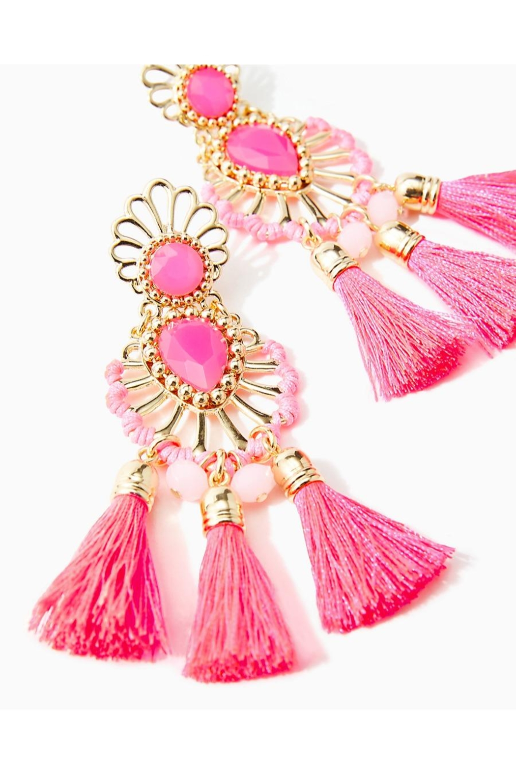 Lilly Pulitzer Breezy Beach Earrings - Side Cropped Image