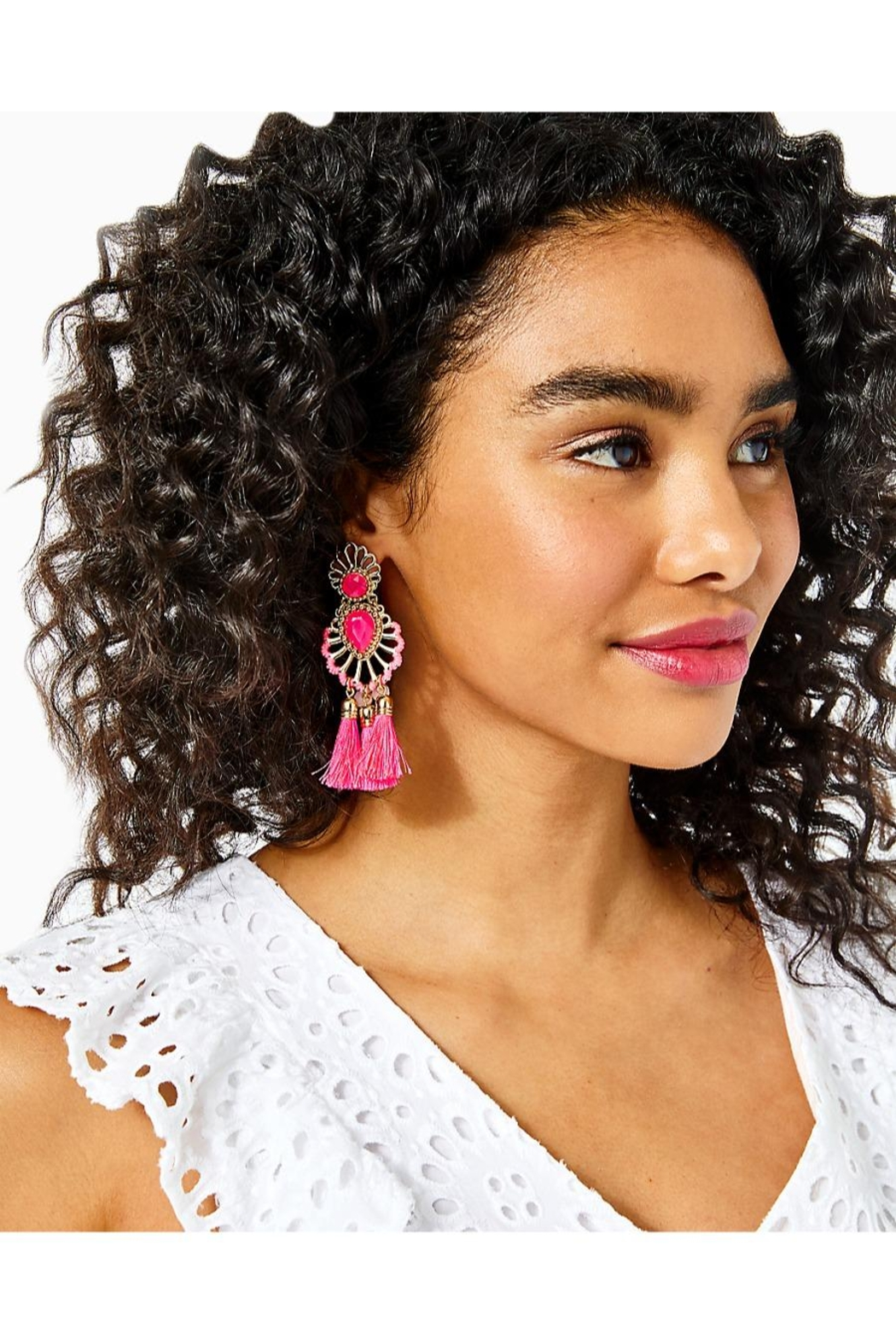 Lilly Pulitzer Breezy Beach Earrings - Front Full Image
