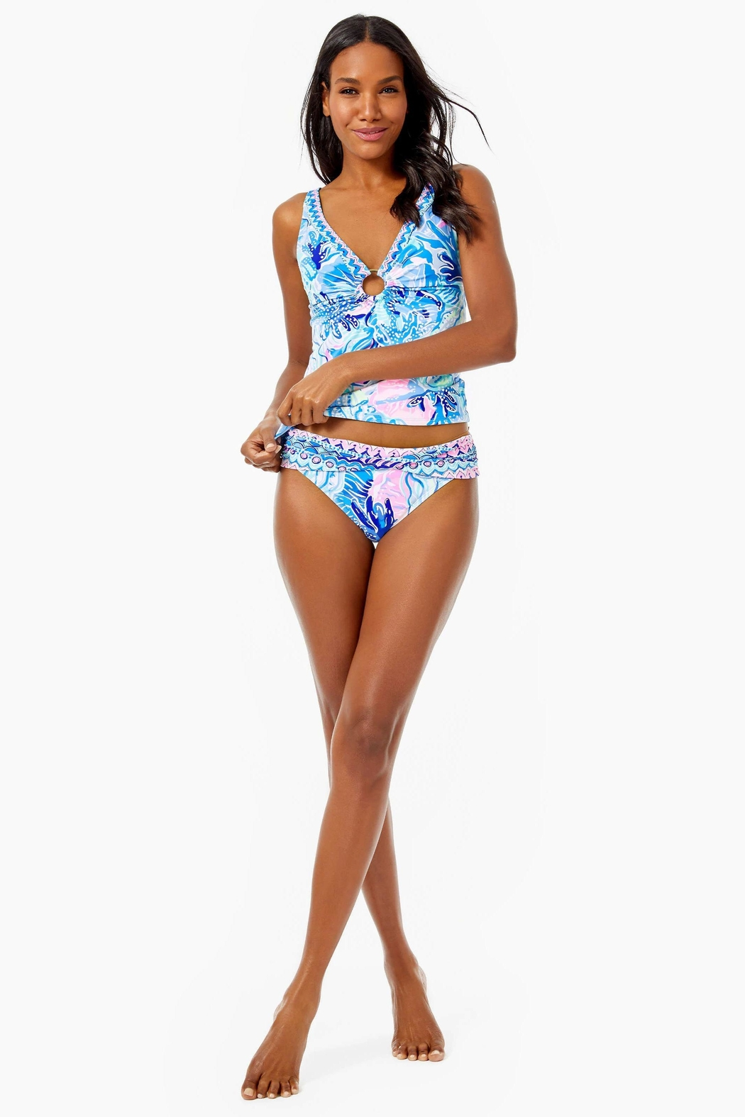 Lilly Pulitzer Brenta Tankini Top - Side Cropped Image