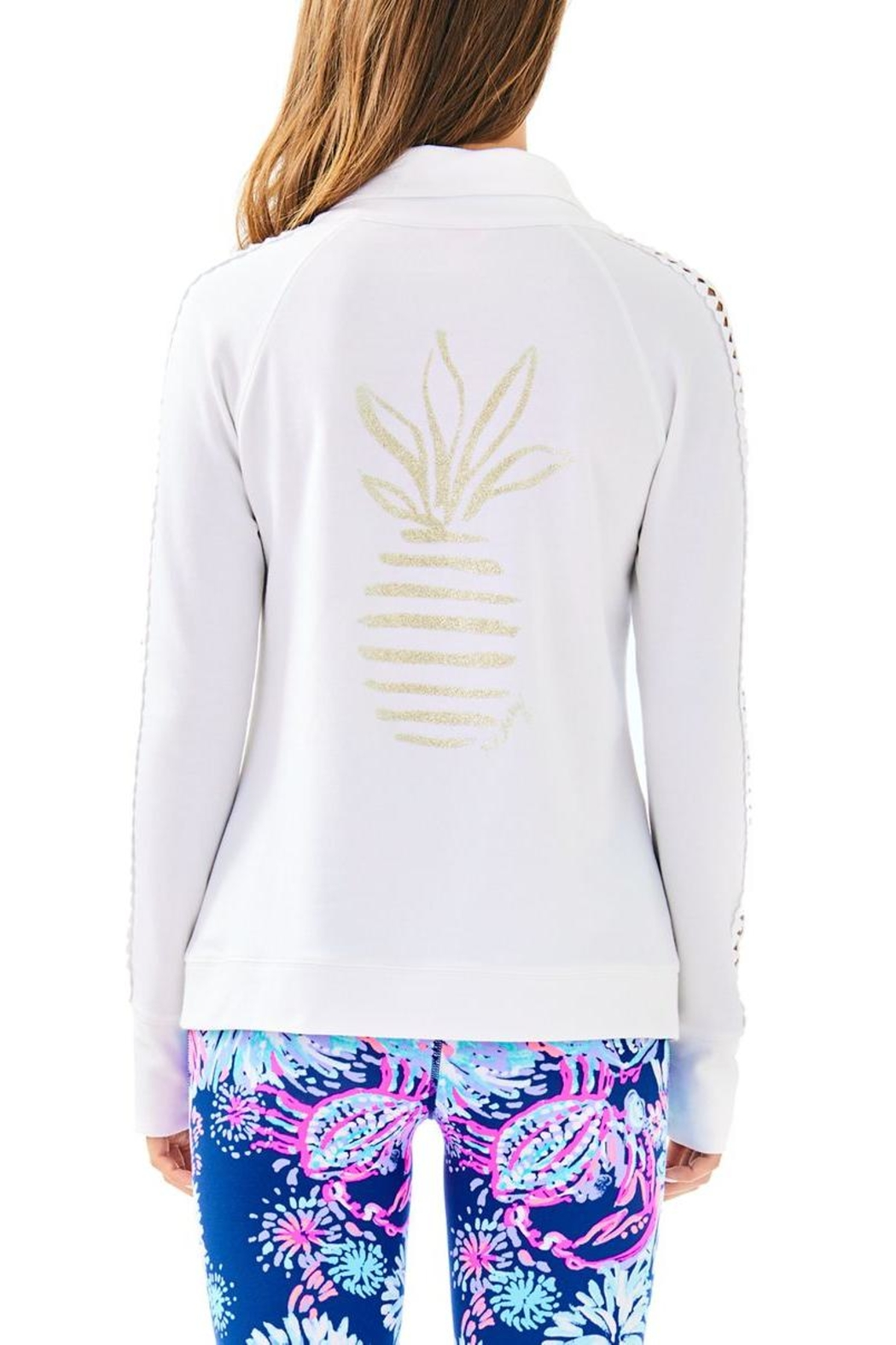 Lilly Pulitzer Brigantine Zip Up - Front Full Image
