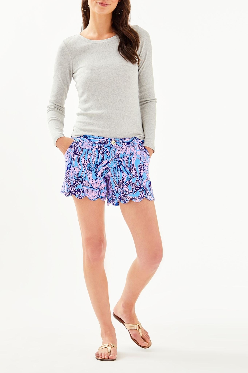 Lilly Pulitzer Buttercup Knit Short - Back Cropped Image