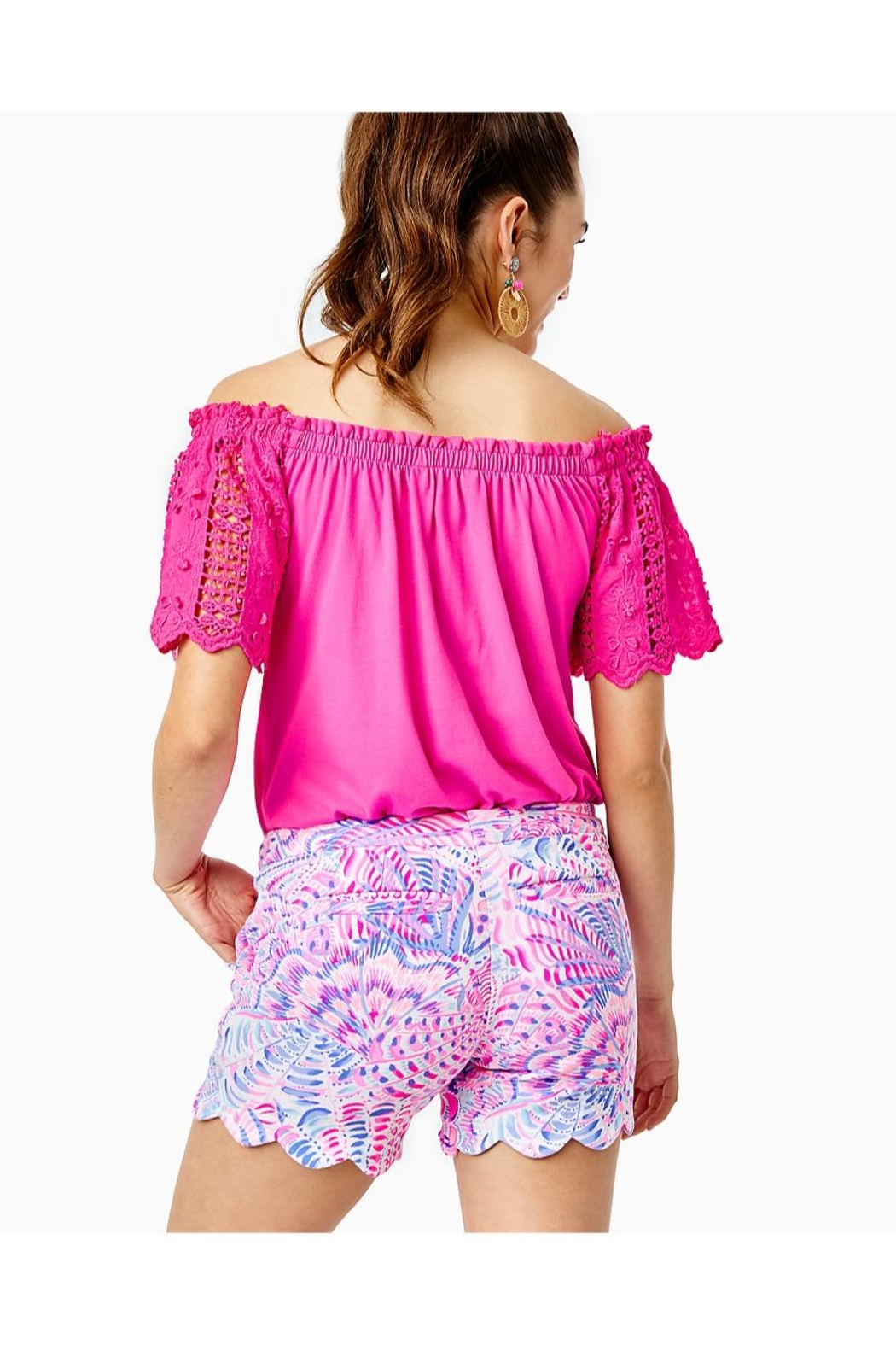 Lilly Pulitzer Buttercup Knit Stretch-Short - Front Full Image