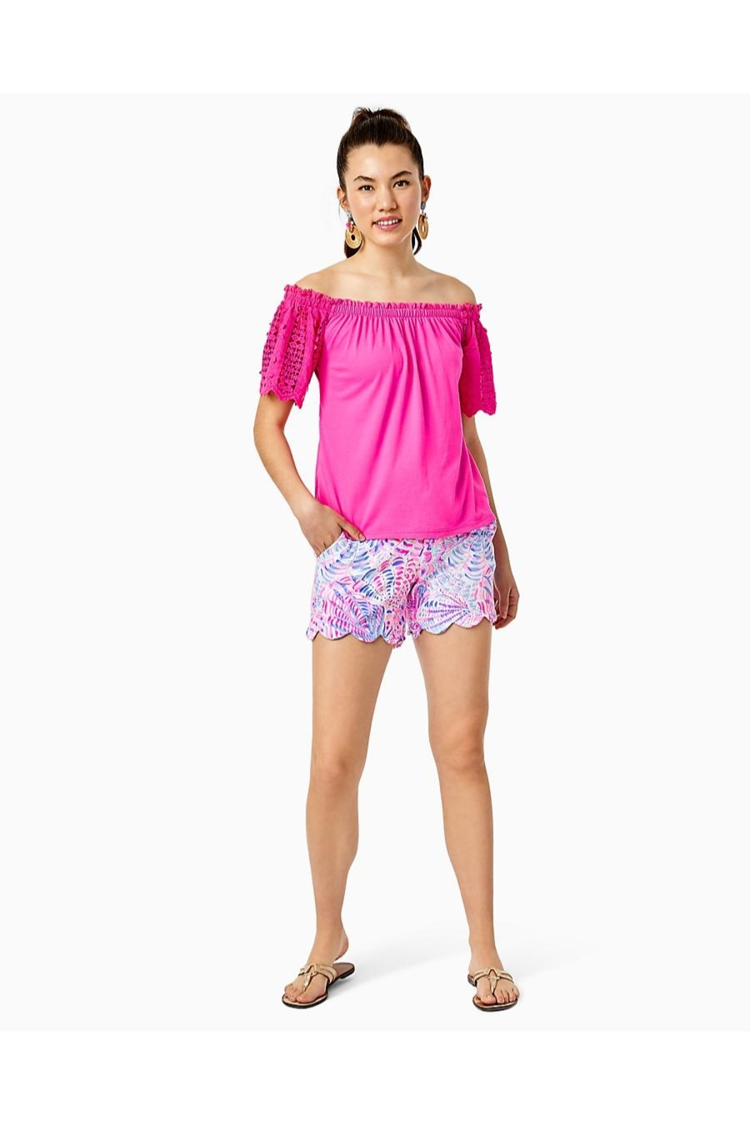 Lilly Pulitzer Buttercup Knit Stretch-Short - Back Cropped Image