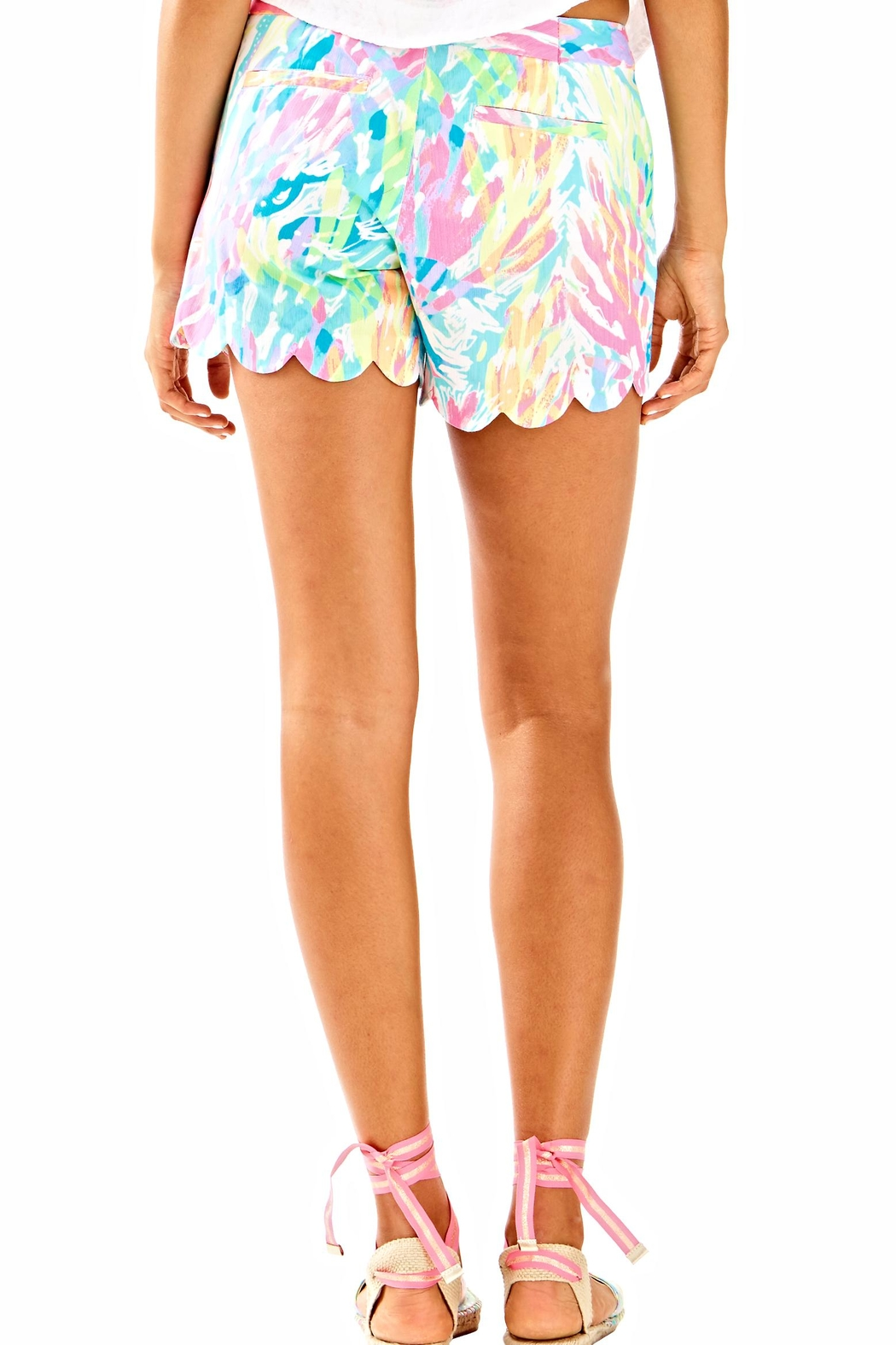 Lilly Pulitzer Buttercup Scallop Hem Short - Front Full Image