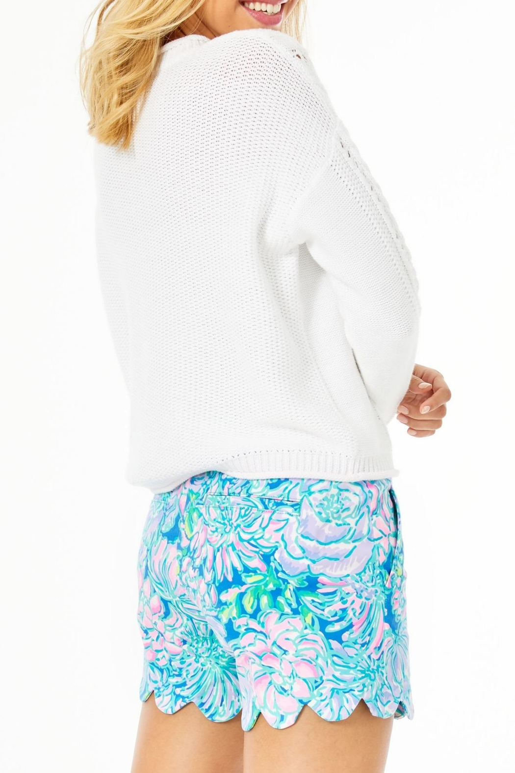 Lilly Pulitzer Buttercup Stretch Short - Side Cropped Image