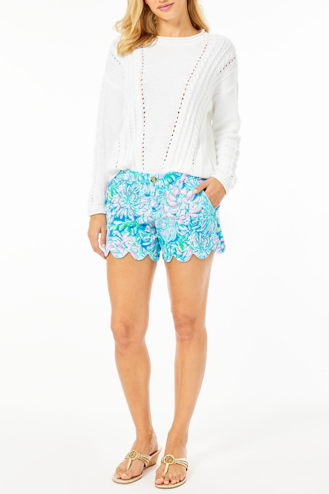 Lilly Pulitzer Buttercup Stretch Short - Back Cropped Image