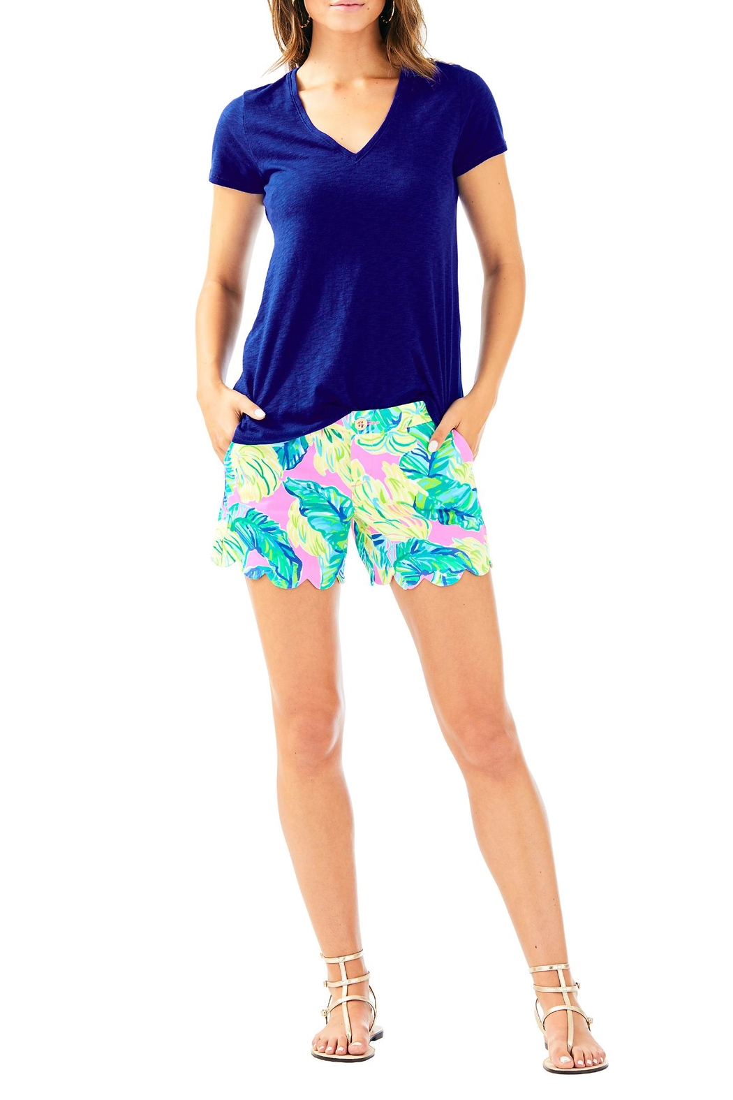 Lilly Pulitzer Buttercup Twill Short - Back Cropped Image