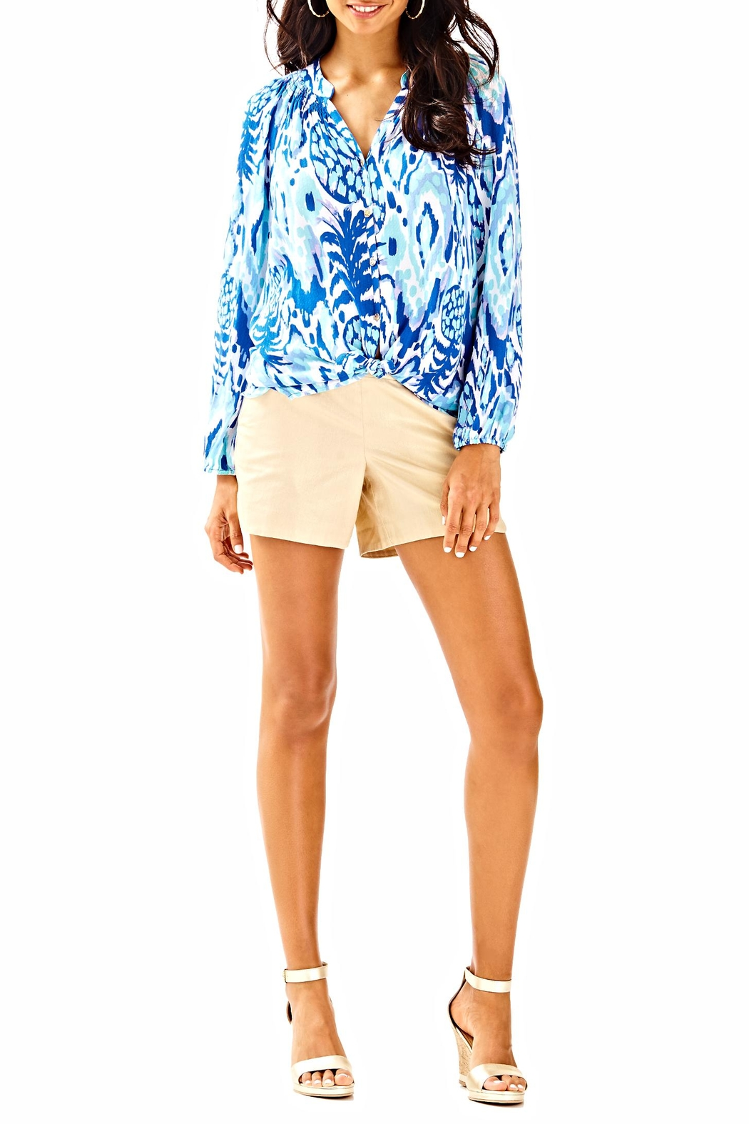 Lilly Pulitzer Button Front Elsa Top - Side Cropped Image