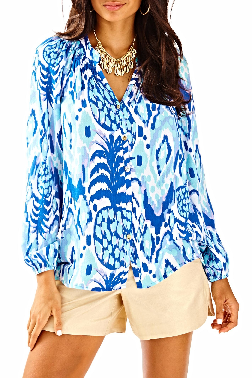 Lilly Pulitzer Button Front Elsa Top - Main Image