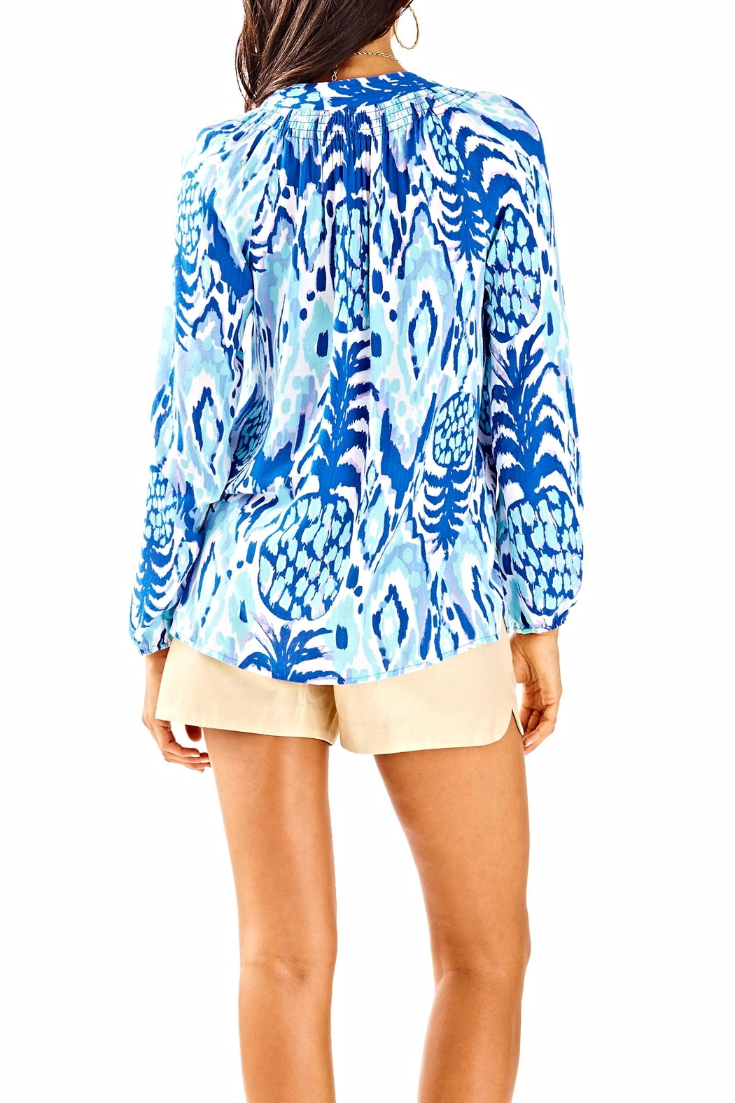 Lilly Pulitzer Button Front Elsa Top - Front Full Image