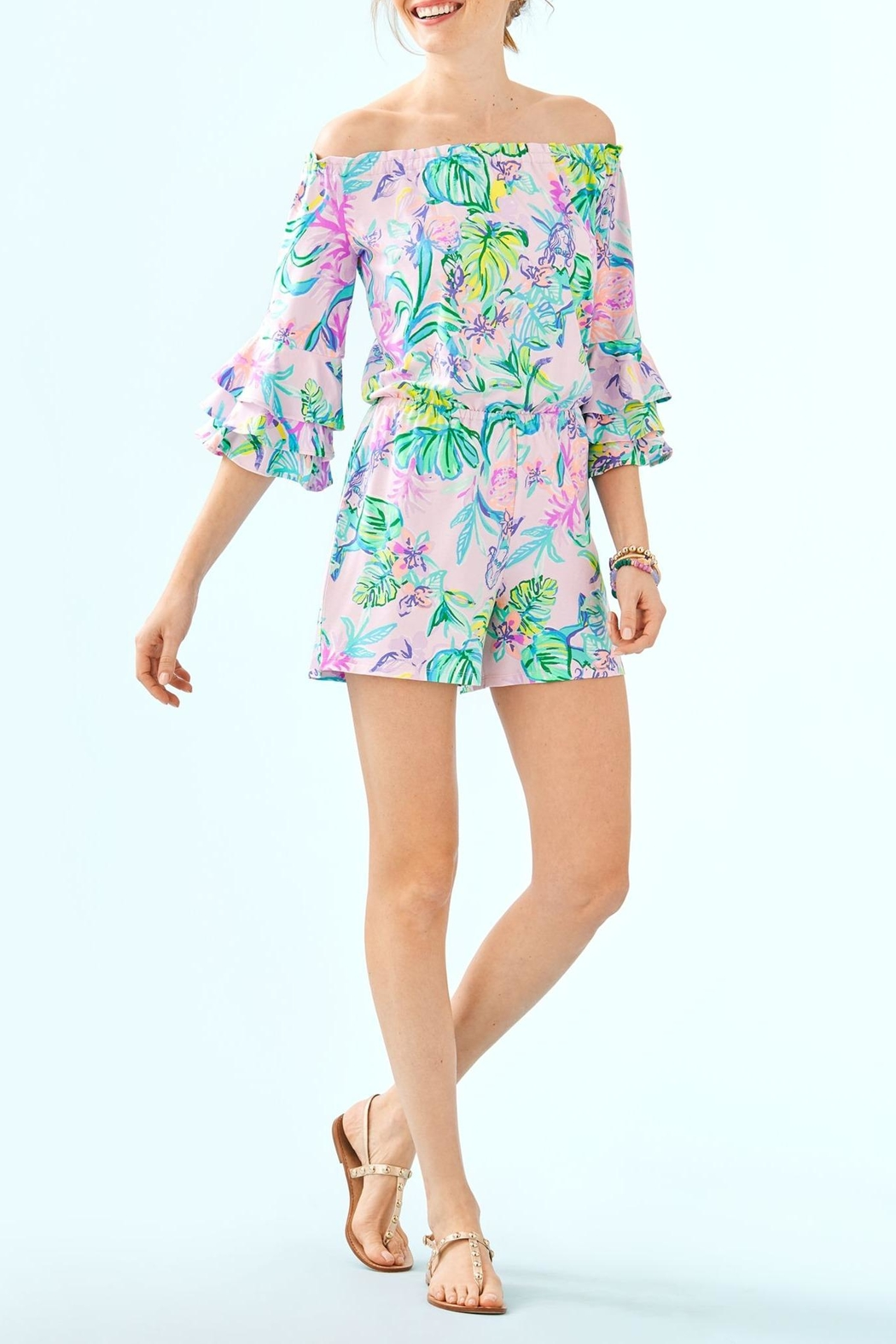 Lilly Pulitzer Calla Romper - Back Cropped Image