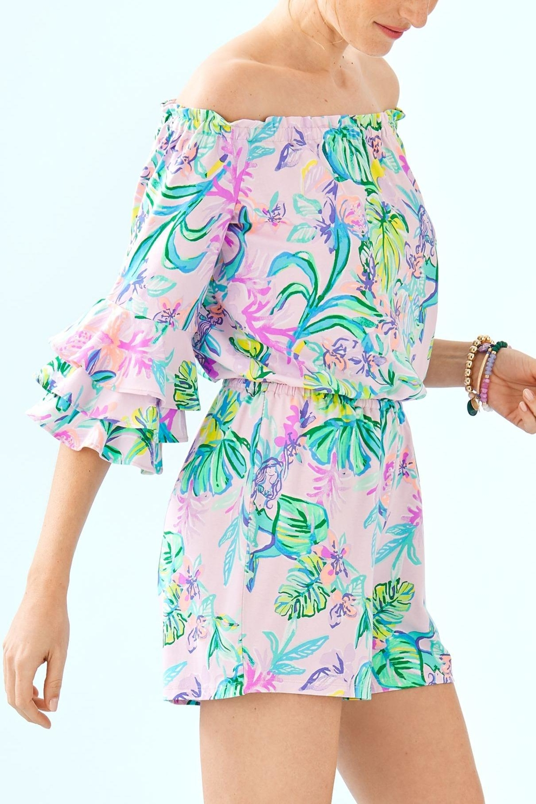 Lilly Pulitzer Calla Romper - Side Cropped Image
