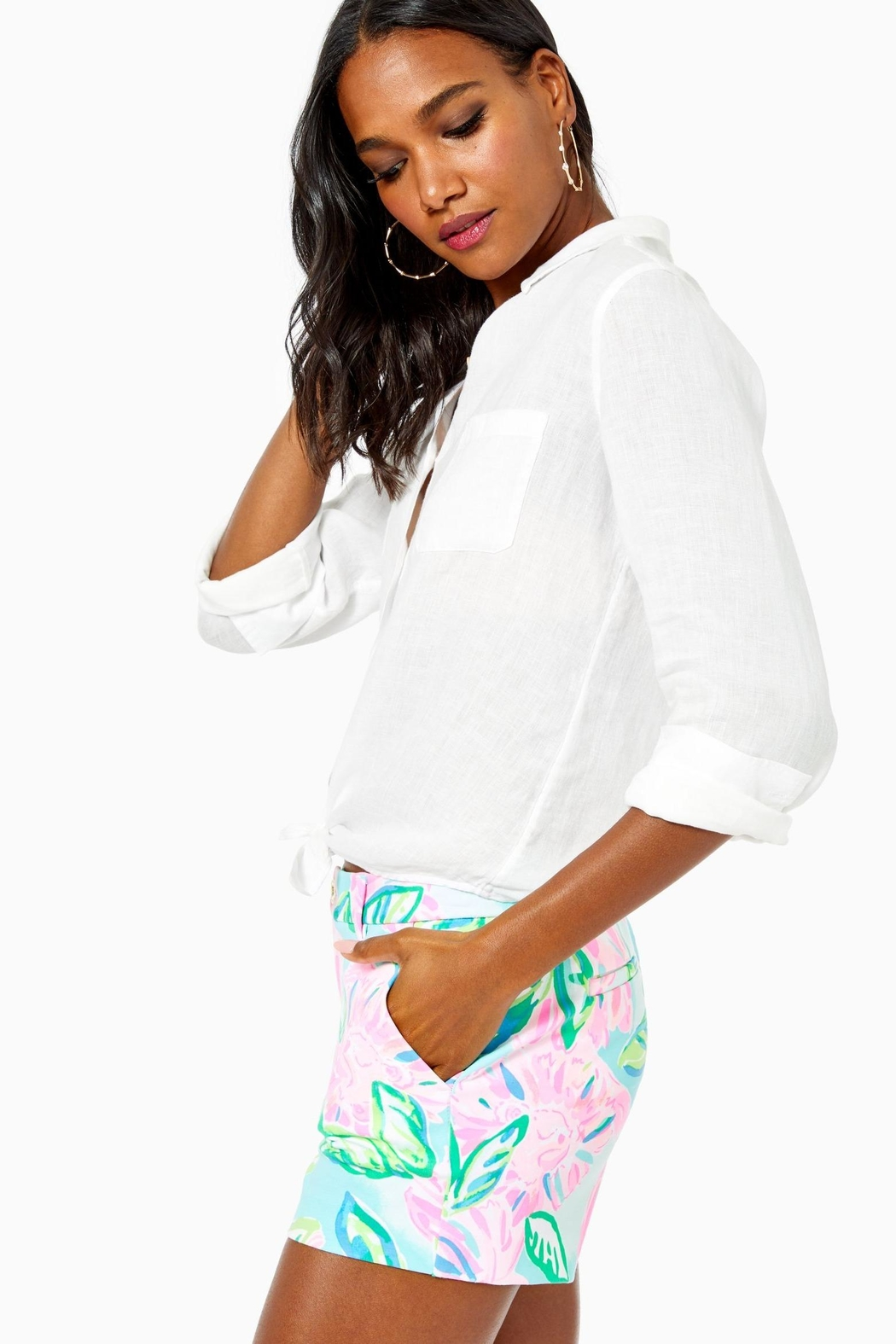 Lilly Pulitzer Callahan Knit Short - Side Cropped Image
