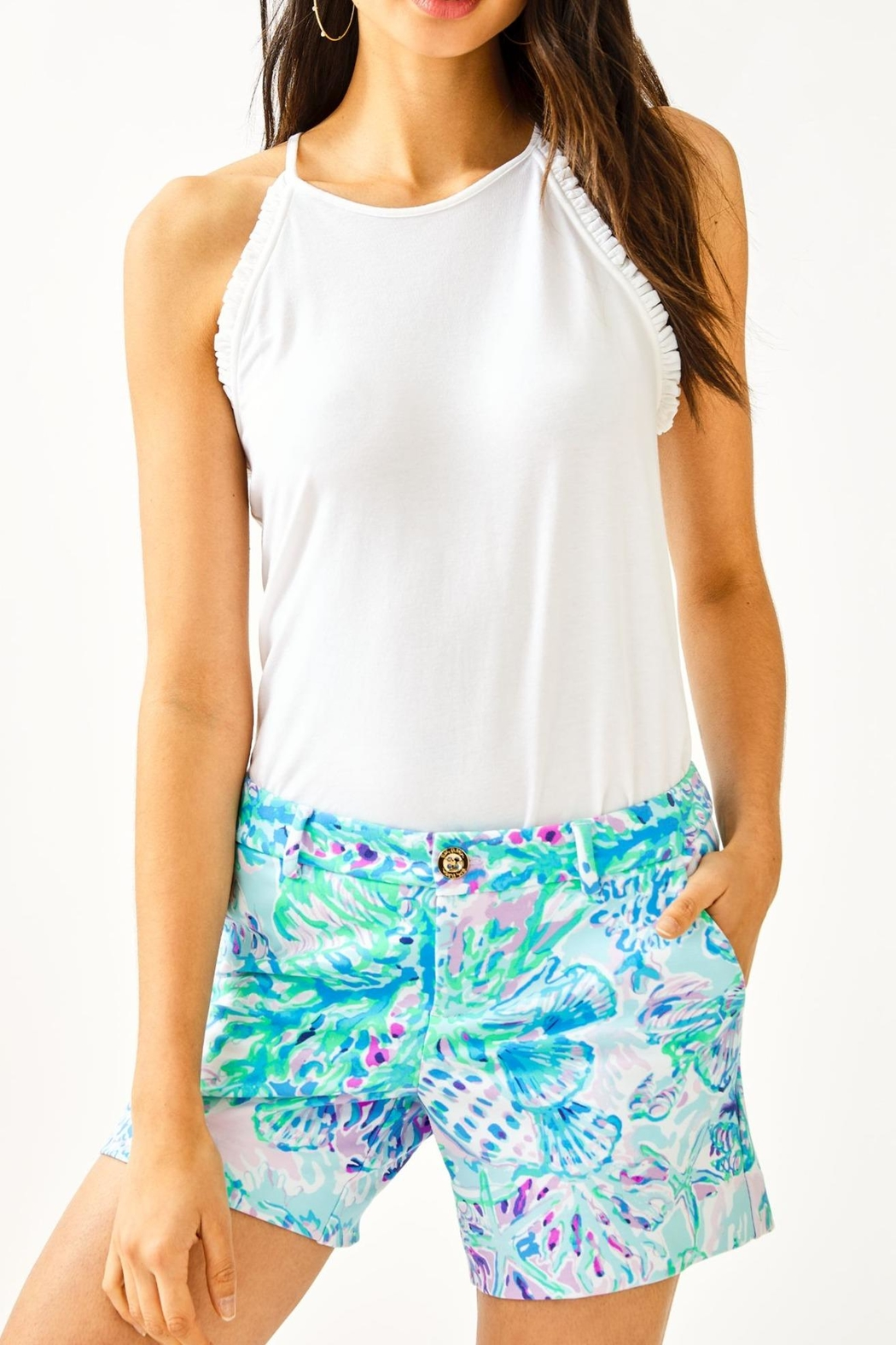 Lilly Pulitzer Callahan Knit Short - Front Cropped Image