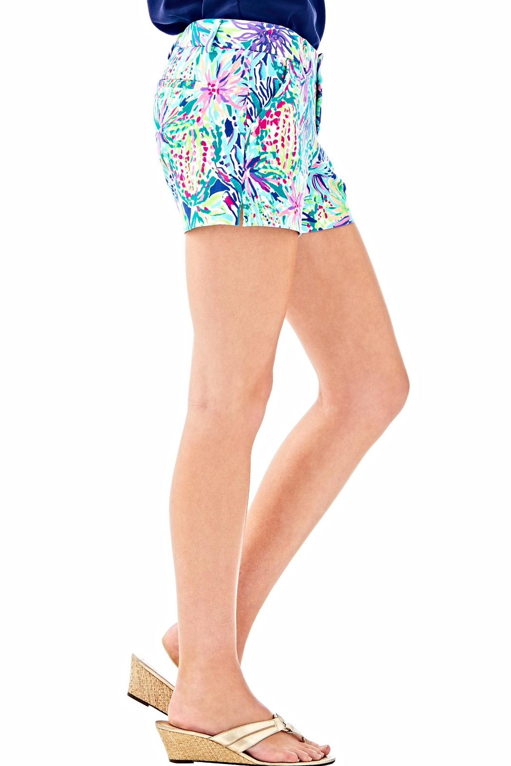Lilly Pulitzer Callahan Ponte Shorts - Side Cropped Image