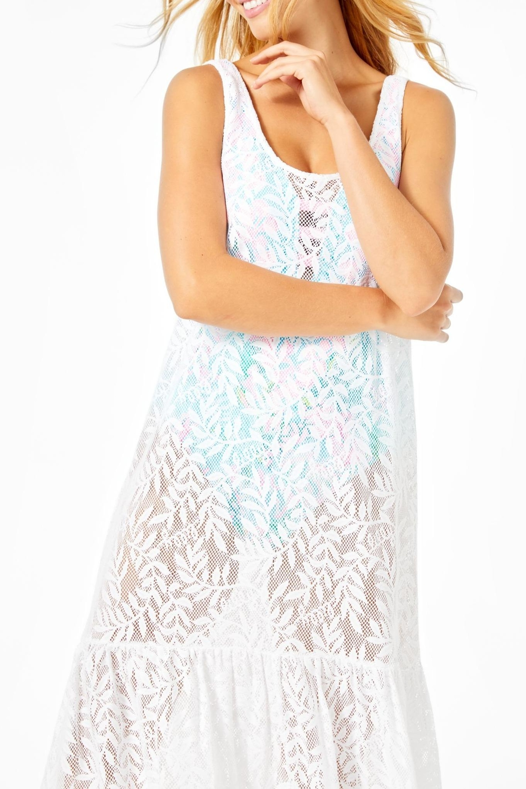 Lilly Pulitzer Camellia Maxi Cover-Up - Side Cropped Image