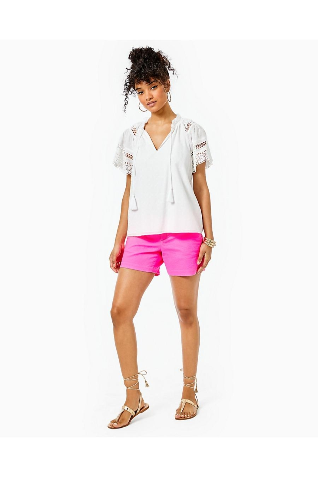 Lilly Pulitzer Candee Top - Back Cropped Image