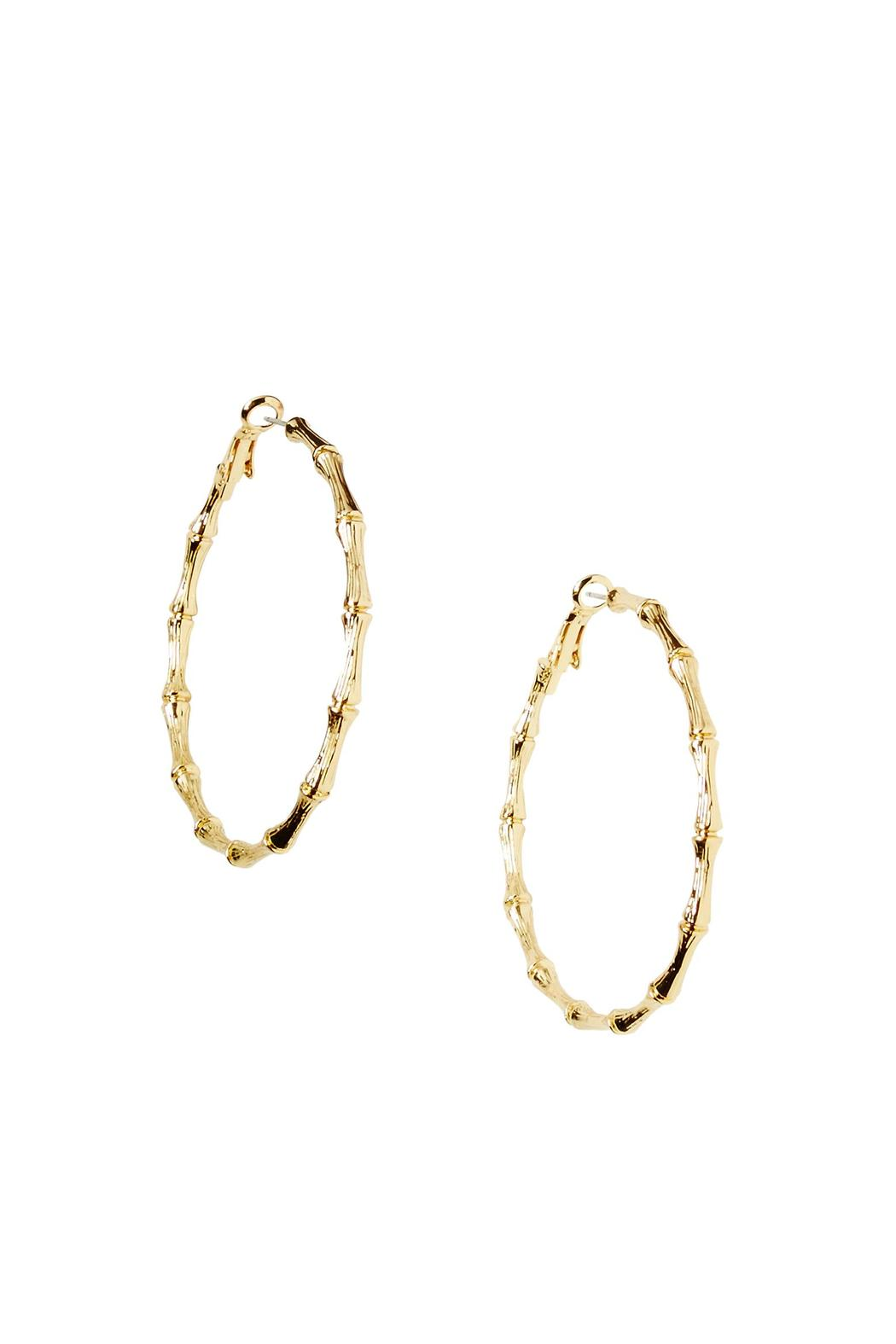 Lilly Pulitzer Gold Bamboo Hoop Earrings  Front Cropped Image