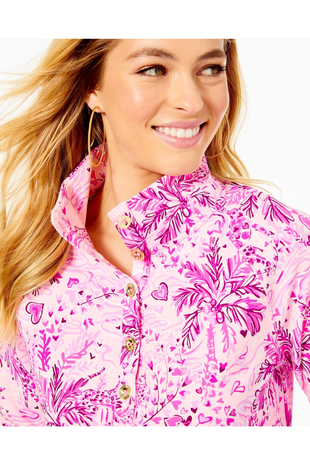 Lilly Pulitzer Captain Round-Hem Popover - Back Cropped Image