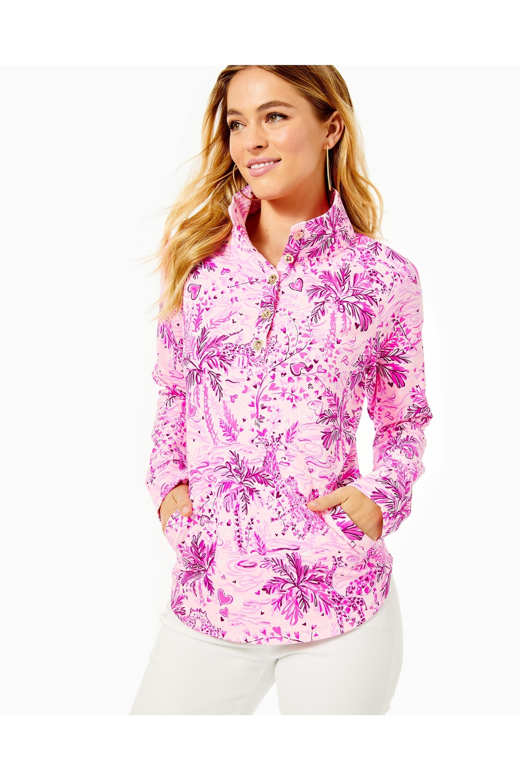 Lilly Pulitzer Captain Round-Hem Popover - Front Full Image