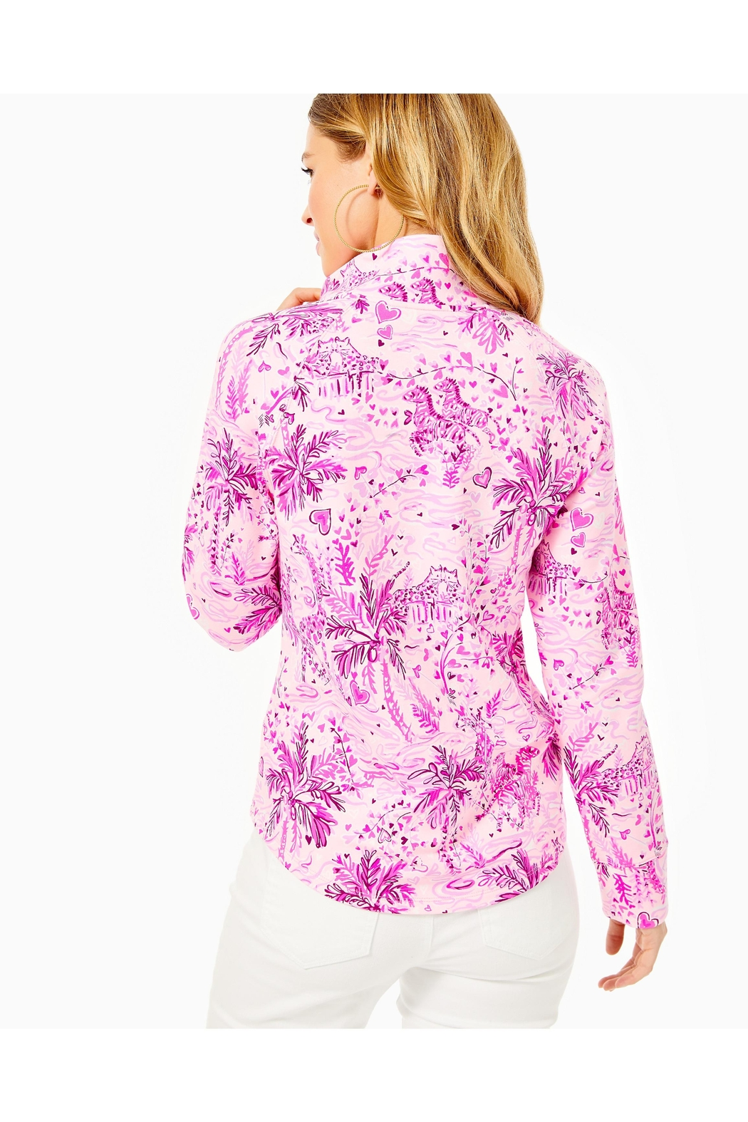 Lilly Pulitzer Captain Round-Hem Popover - Side Cropped Image