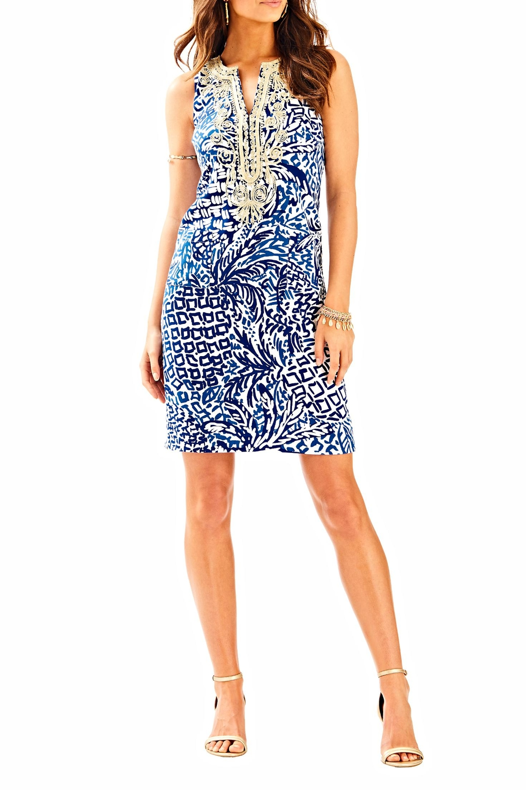 Lilly Pulitzer Carlotta Shift Dress - Back Cropped Image
