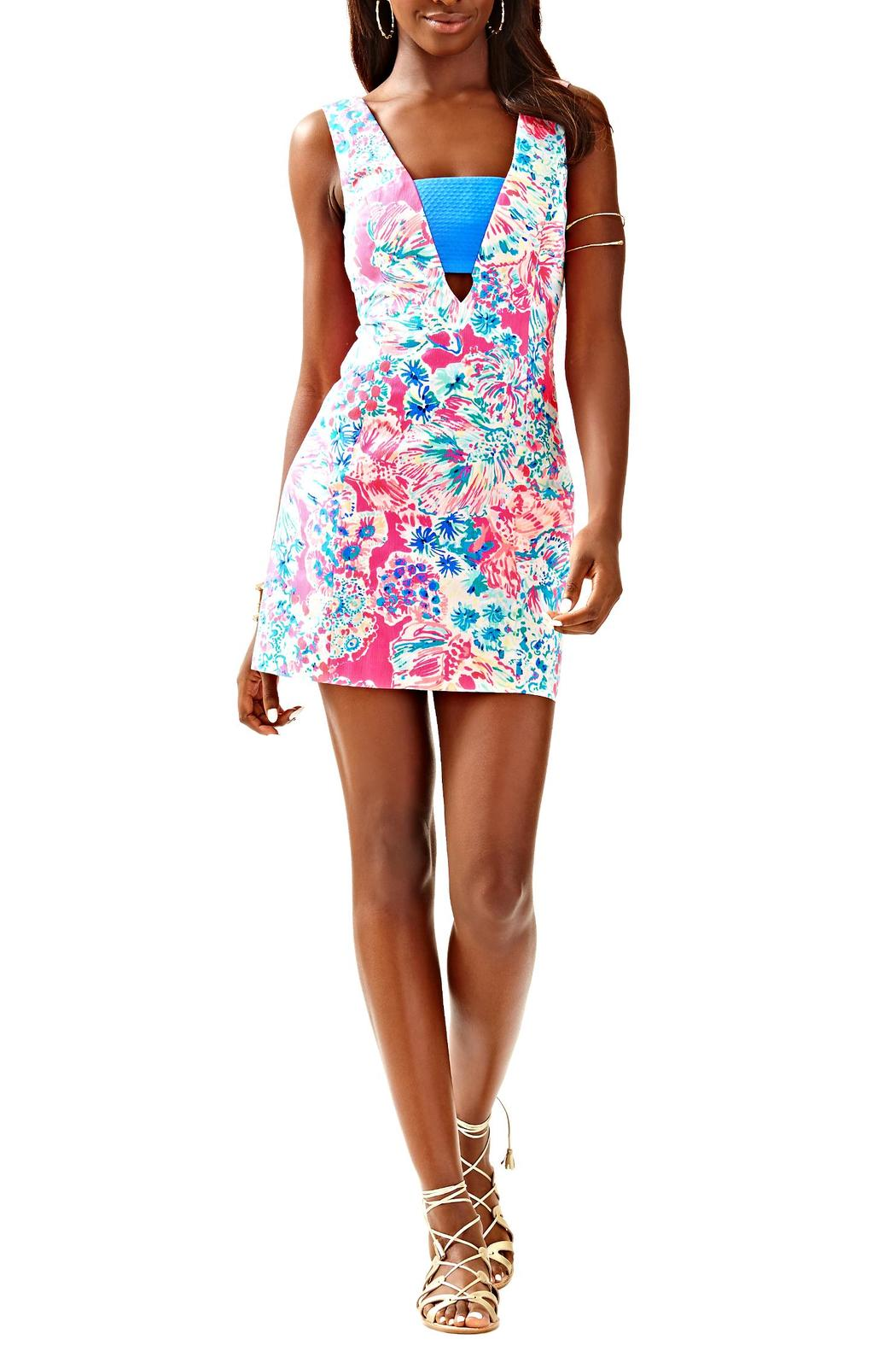 Lilly Pulitzer Cassa Shift Dress - Front Cropped Image