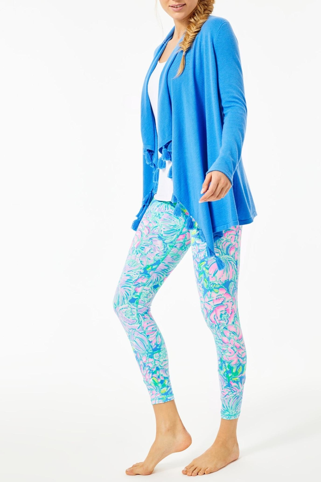 Lilly Pulitzer Catriona Tassel Cardigan - Back Cropped Image