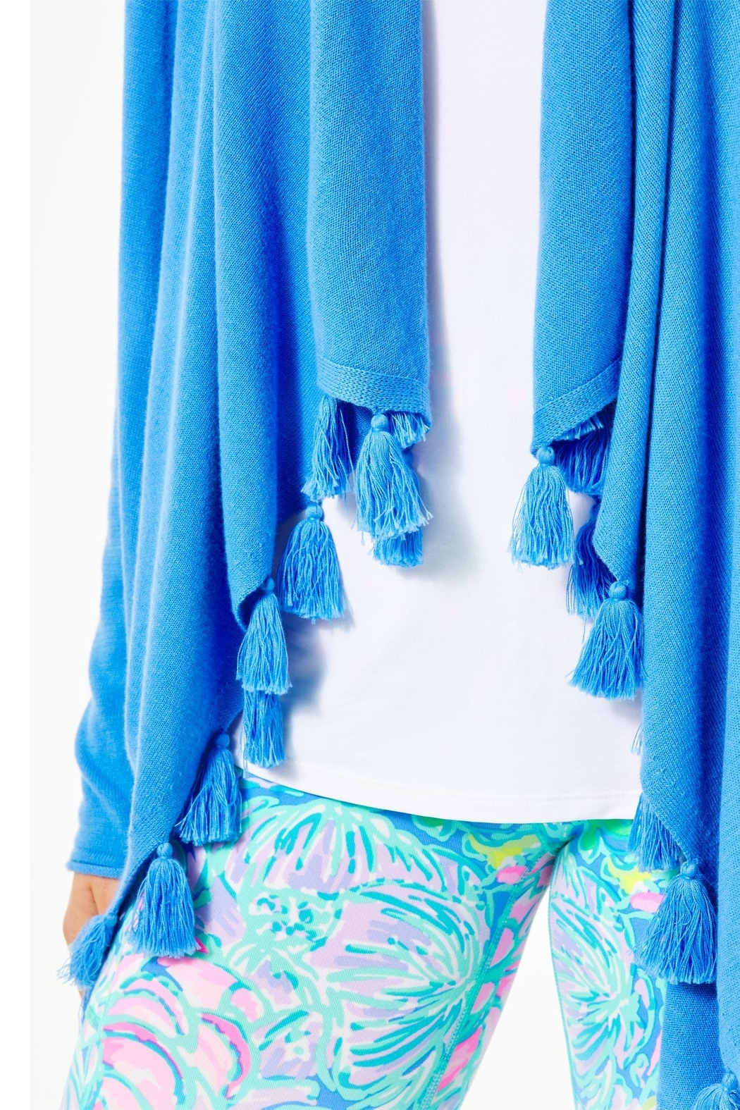 Lilly Pulitzer Catriona Tassel Cardigan - Side Cropped Image