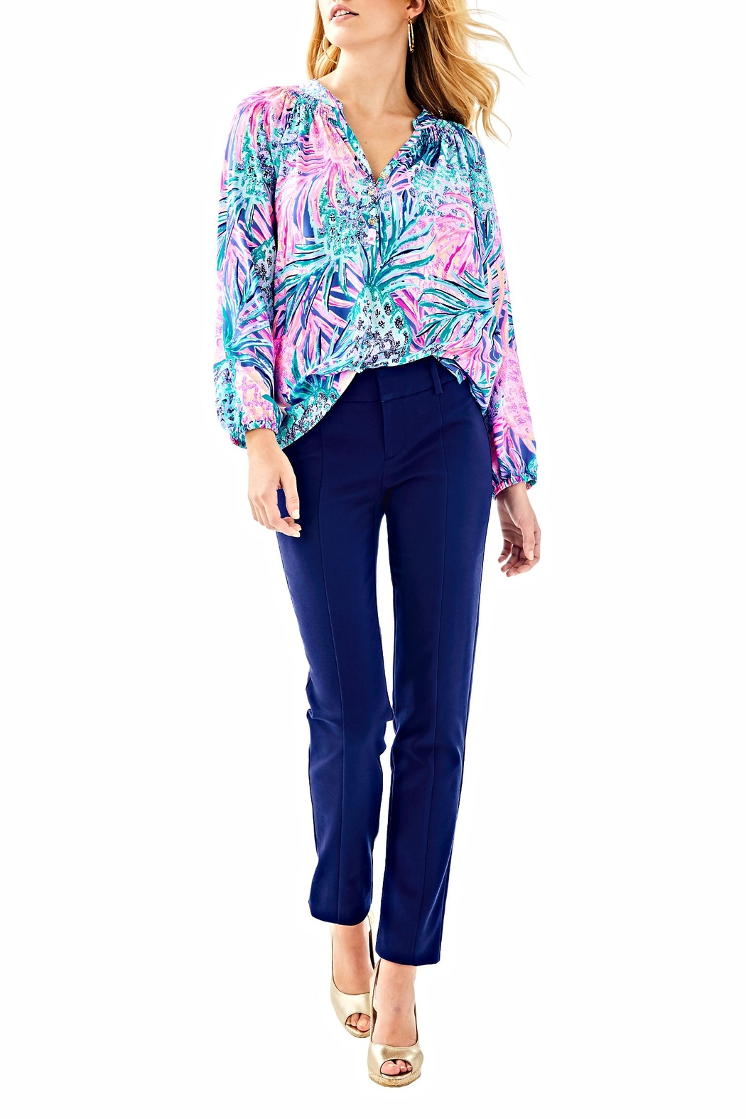 Lilly Pulitzer Chantal Stretch Pant - Back Cropped Image