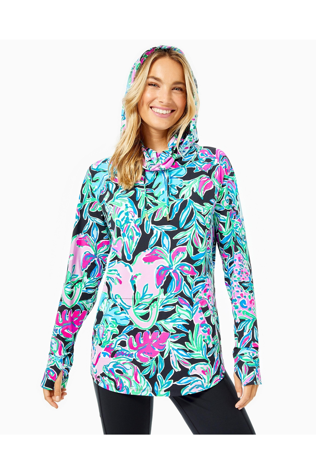 Lilly Pulitzer Chillylilly Lilblock Popover - Side Cropped Image