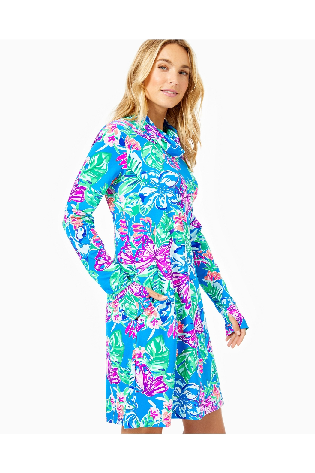 Lilly Pulitzer Chillylilly Lilshield Dress - Back Cropped Image