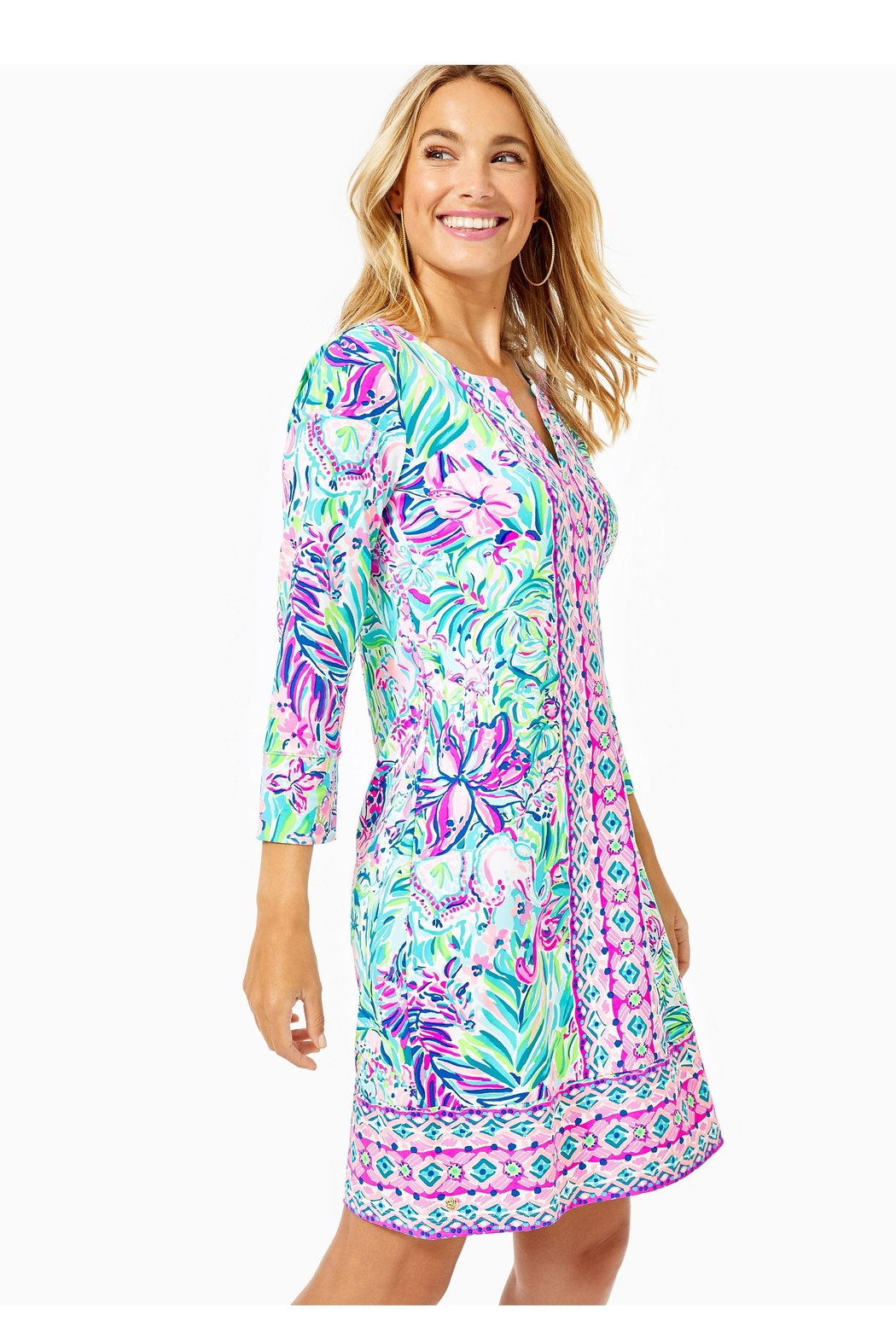 Lilly Pulitzer Chillylilly Nadine Dress - Side Cropped Image
