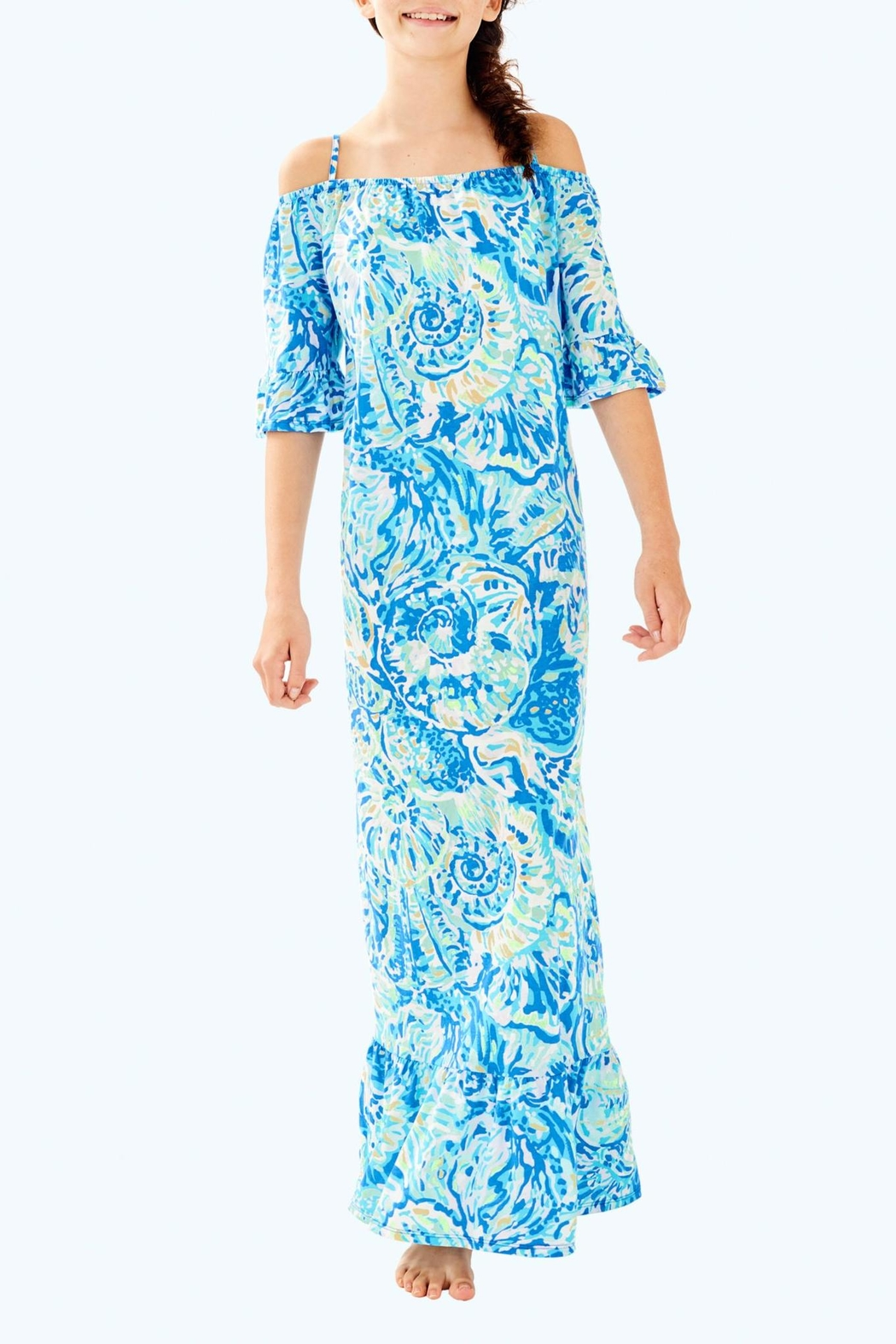 Lilly Pulitzer Clary Maxi Dress - Side Cropped Image