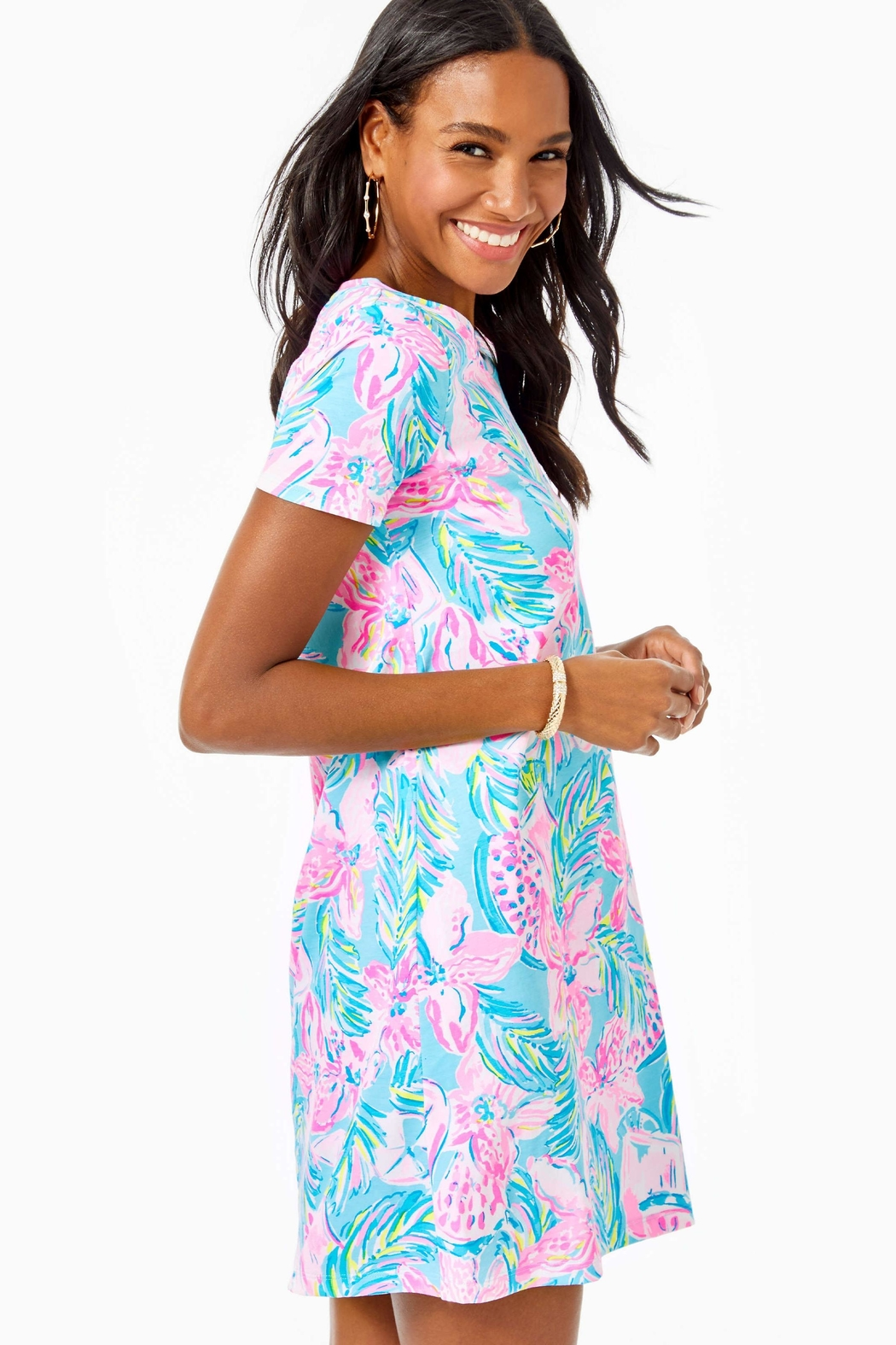Lilly Pulitzer Cody T-Shirt Dress - Side Cropped Image