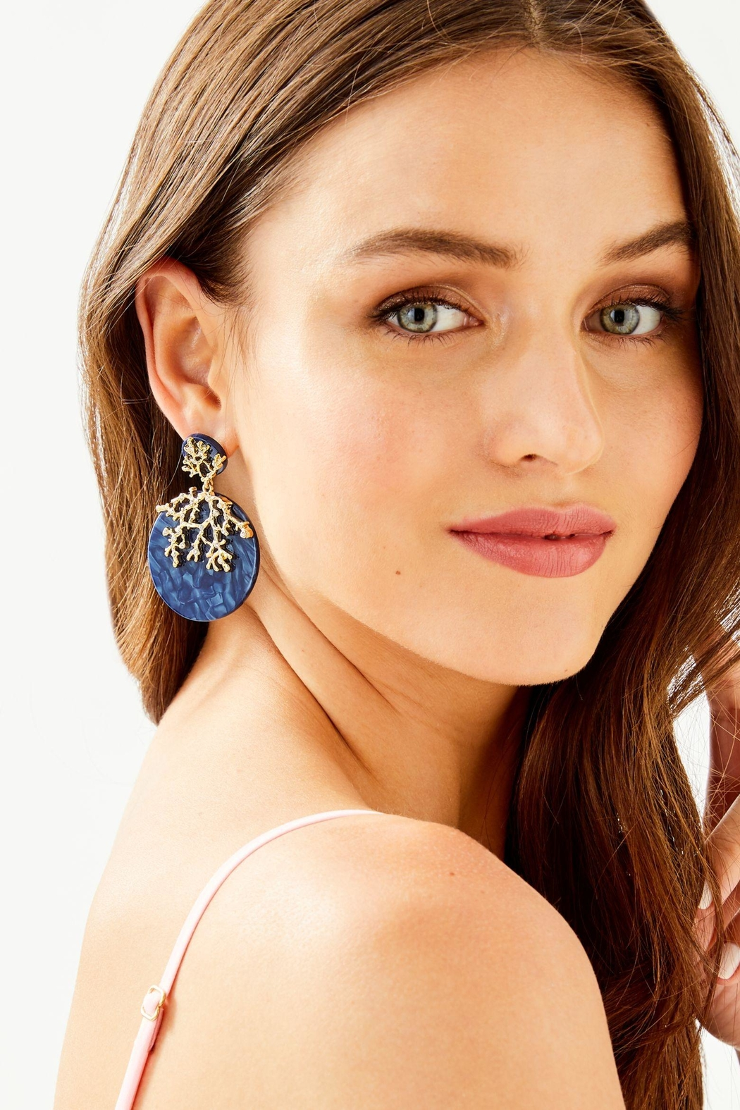 Lilly Pulitzer Coral Cove Earrings - Front Full Image