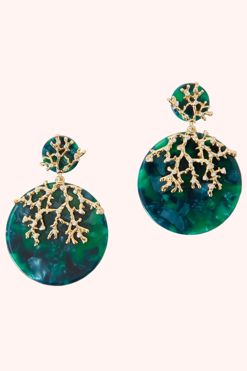 Lilly Pulitzer Coral Cove Earrings - Front Cropped Image