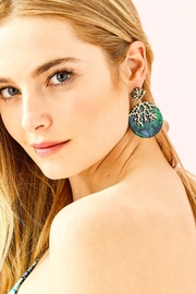 Lilly Pulitzer Coral Cove Earrings - Front full body