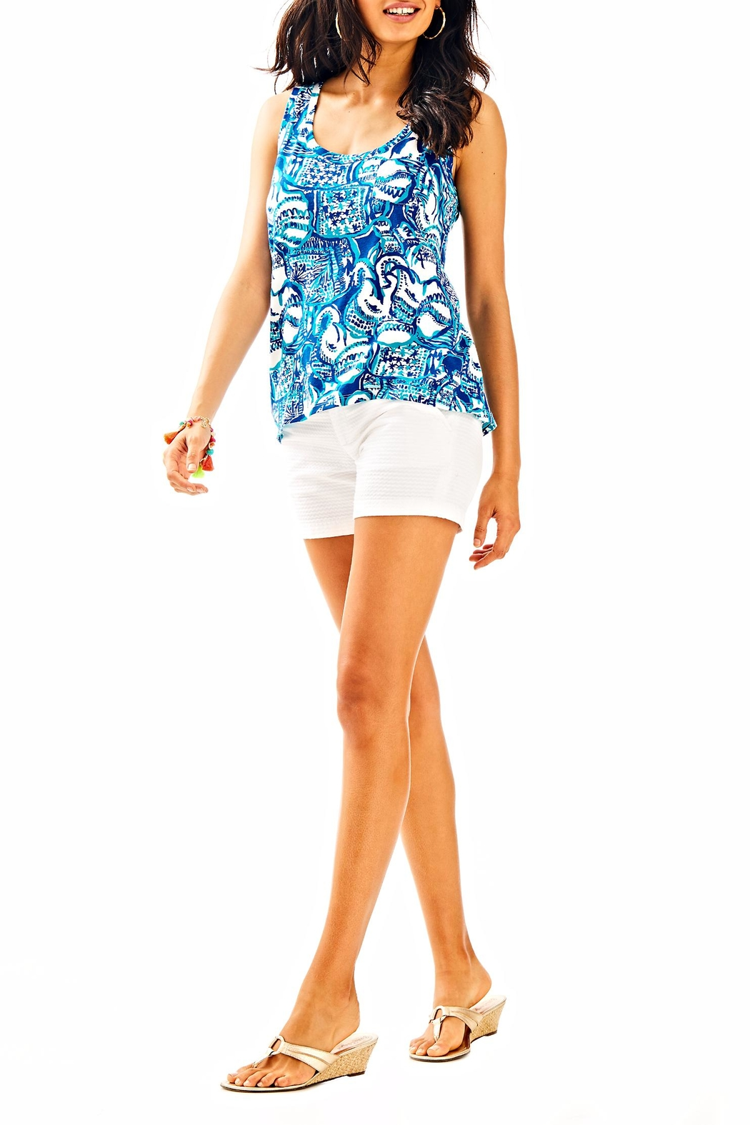 Lilly Pulitzer Crayton Tank Top - Side Cropped Image
