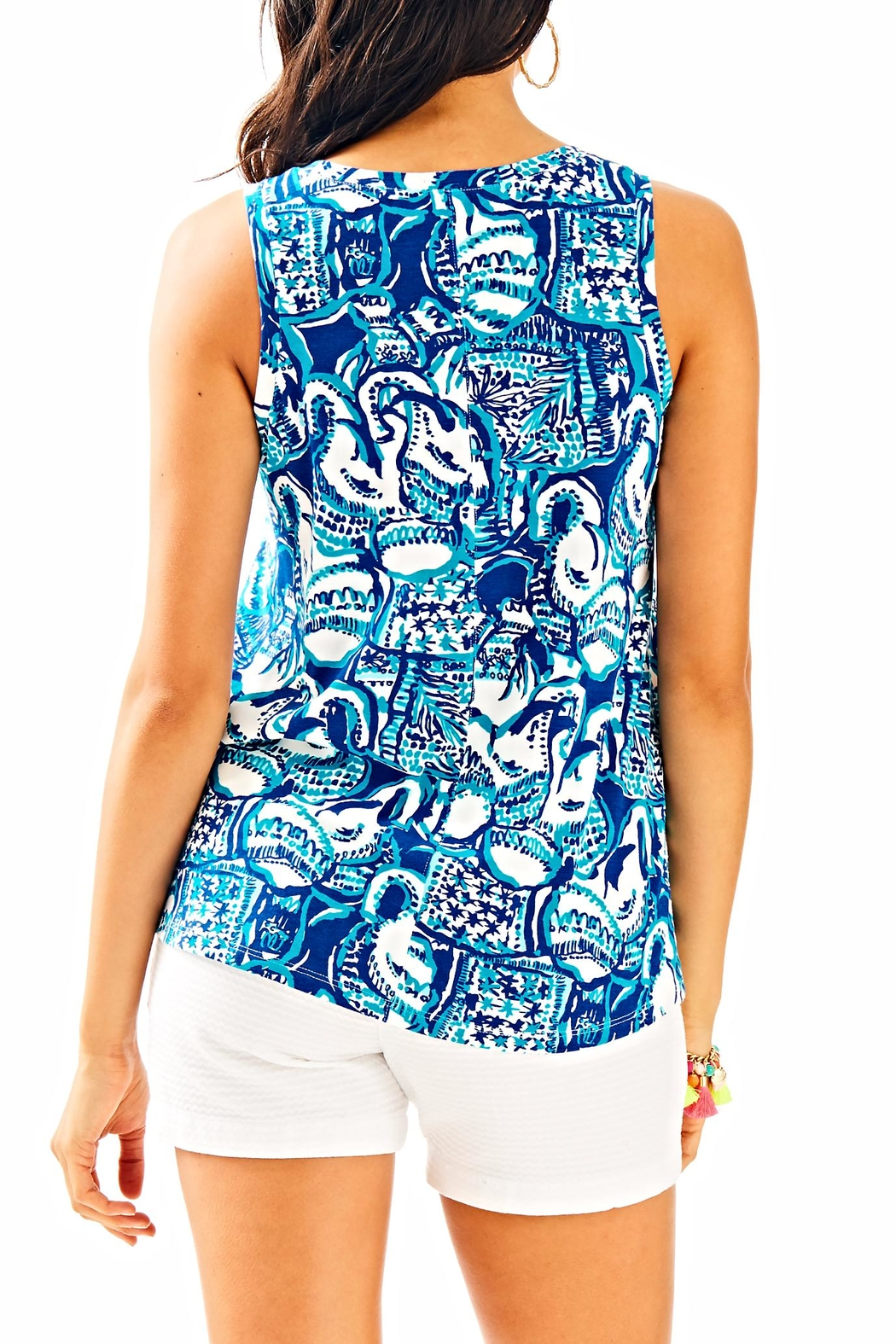 Lilly Pulitzer Crayton Tank Top - Front Full Image