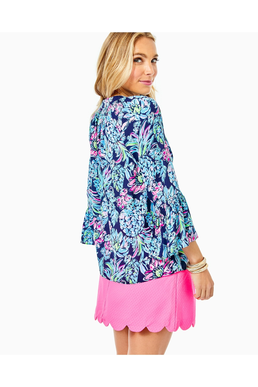 Lilly Pulitzer Dakota Button-Down Top - Front Full Image