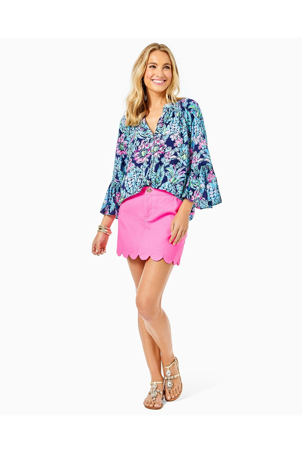 Lilly Pulitzer Dakota Button-Down Top - Side Cropped Image