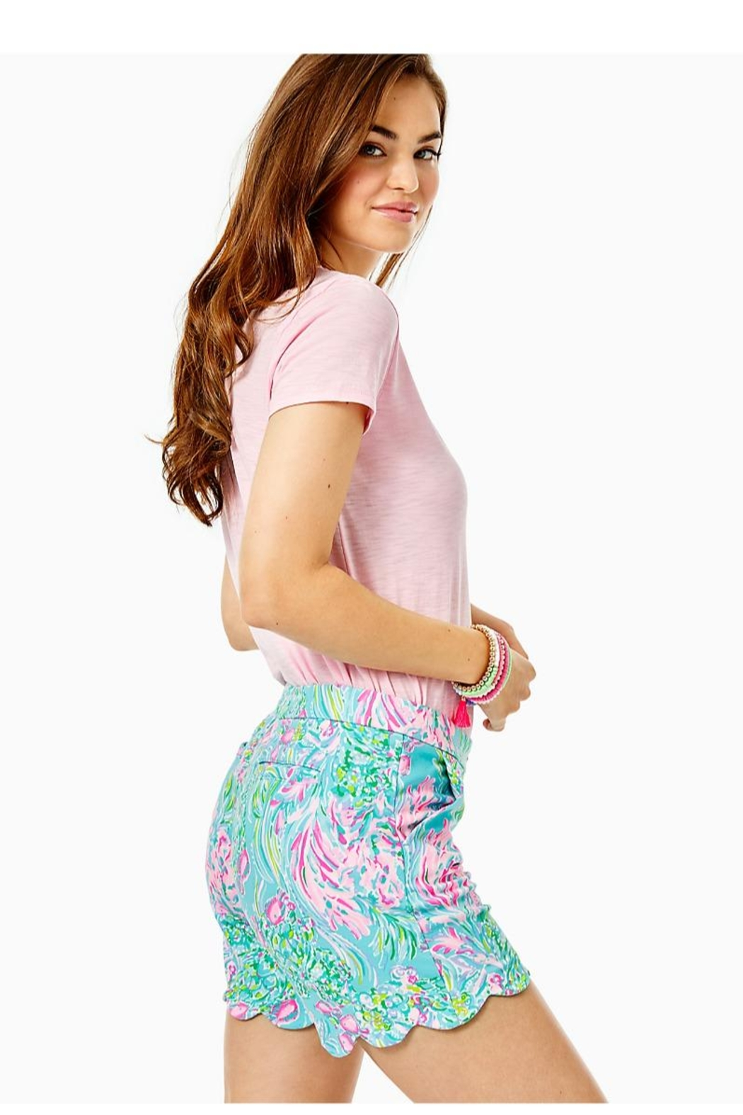Lilly Pulitzer Darci Knit Short - Side Cropped Image