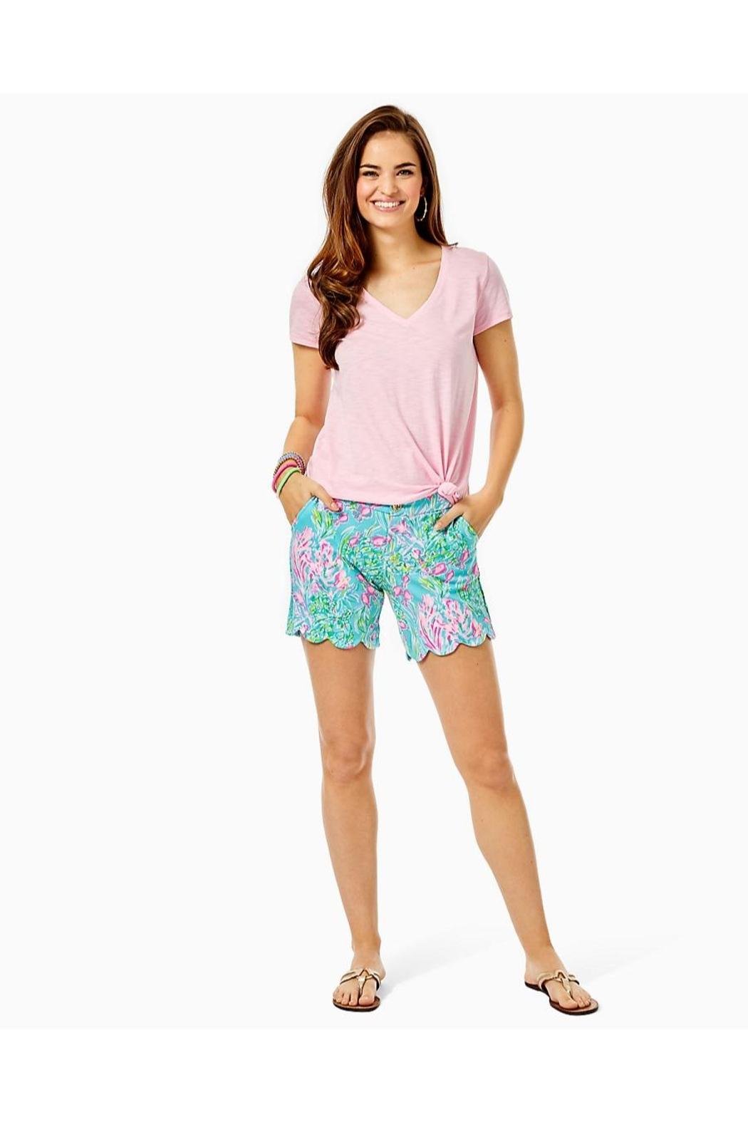 Lilly Pulitzer Darci Knit Short - Back Cropped Image