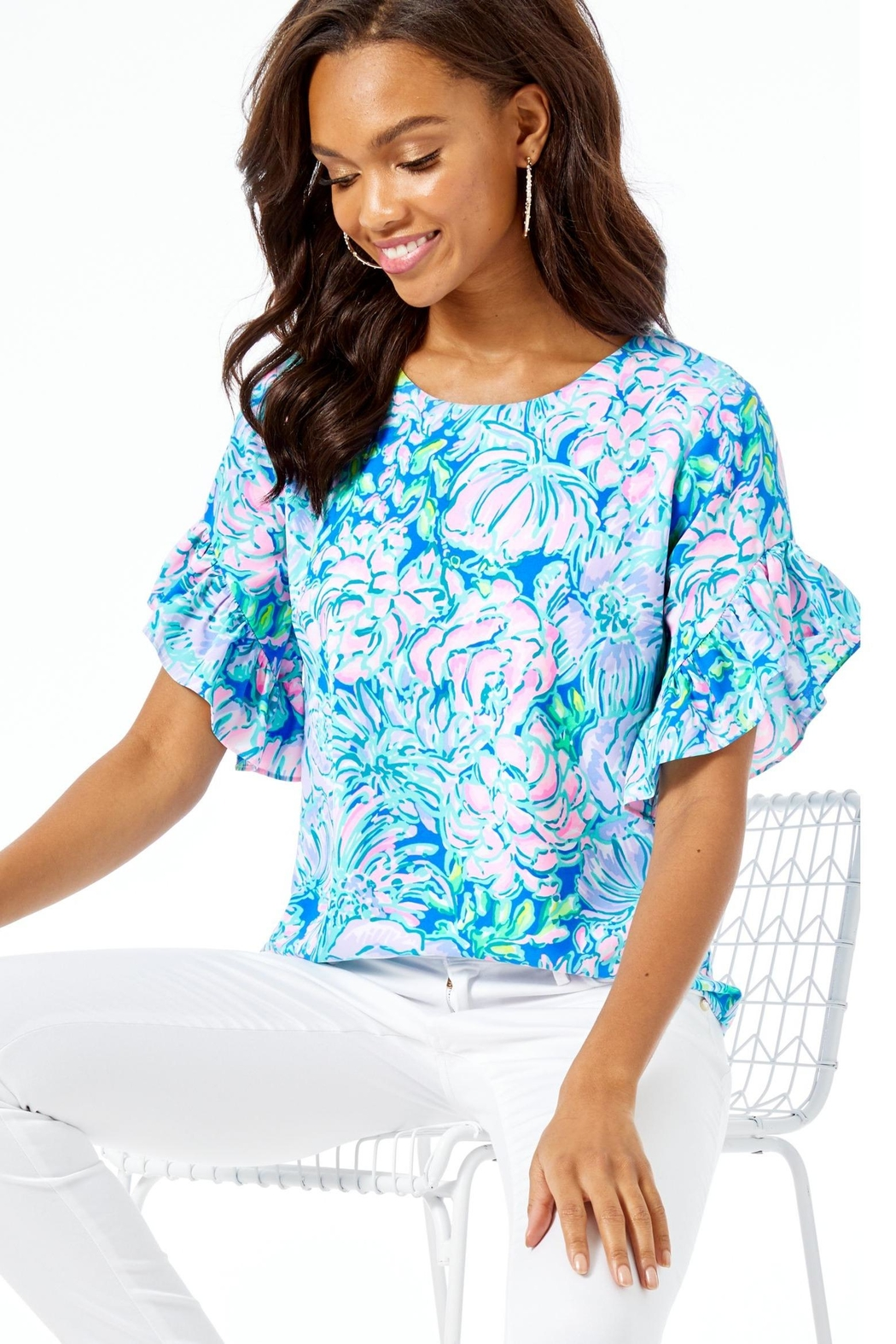 Lilly Pulitzer Darlah Top - Front Cropped Image
