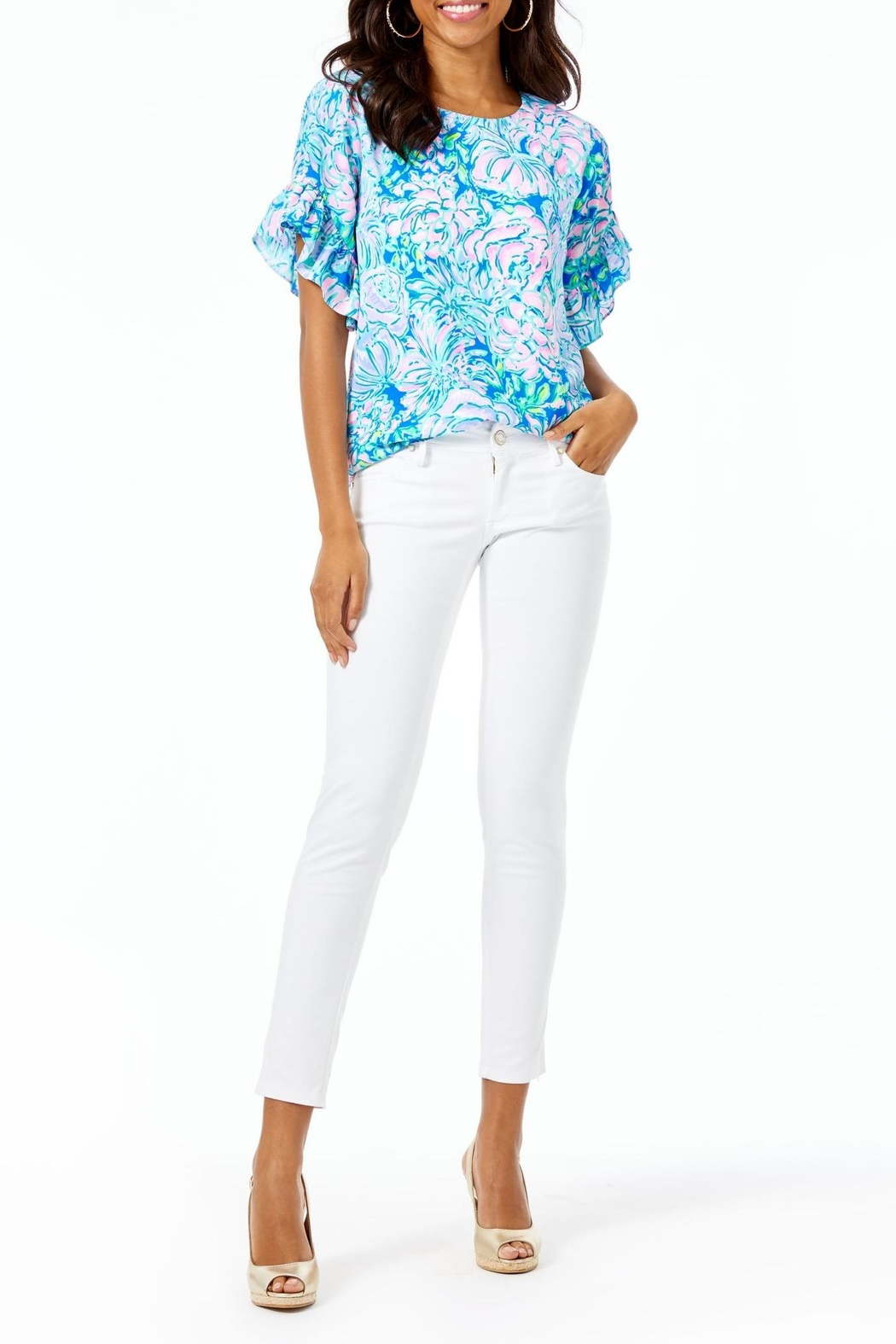 Lilly Pulitzer Darlah Top - Back Cropped Image