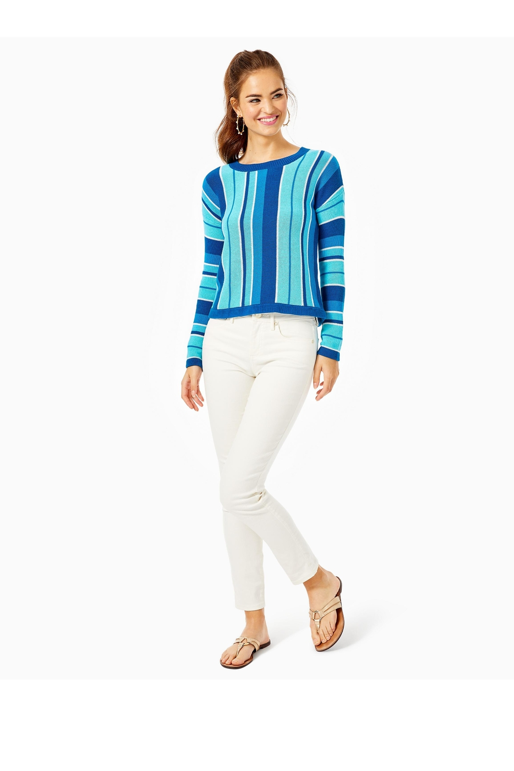 Lilly Pulitzer Daryn Sweater - Side Cropped Image