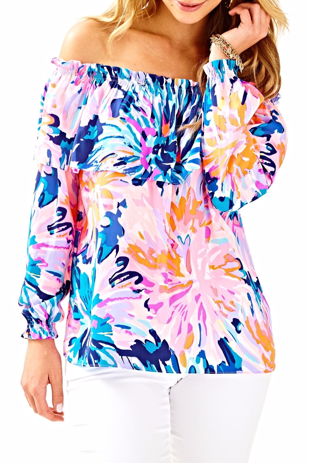Lilly Pulitzer Dee Top - Side Cropped Image