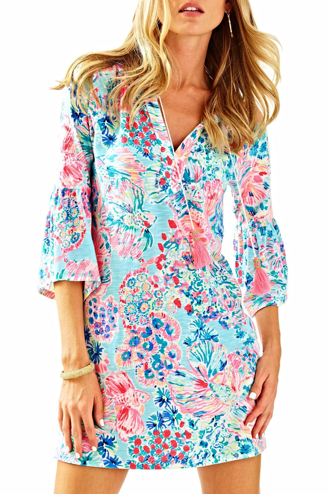 Lilly Pulitzer Del Lago Tunic Dress - Front Cropped Image